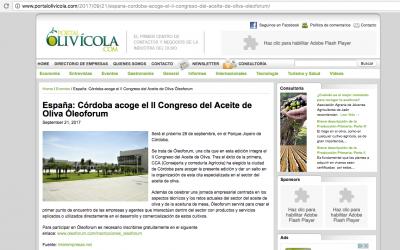 Portal Olivícola: «España: Córdoba acoge el II Congreso del Aceite de Oliva Óleoforum»