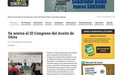 Olimerca: «Se acerca el III Congreso del Aceite de Oliva»