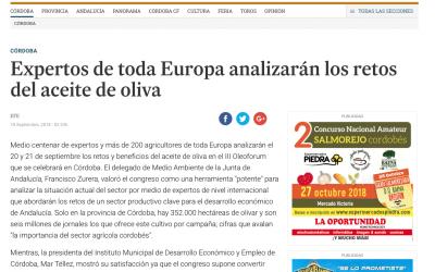 """Día de Córdoba:""""Expertos de toda Europa analizarán los retos del aceite de oliva"""""""