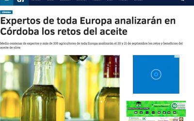 "Andalucía Información:""Expertos de toda Europa analizarán en Córdoba los retos del aceite"""