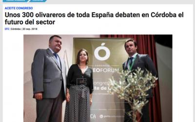 """Agencia EFE: """"Unos 300 olivareros de toda España debaten en Córdoba el futuro del sector"""""""