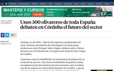 """La Vanguardia: """"Unos 300 olivareros de toda España debaten en Córdoba el futuro del sector"""""""