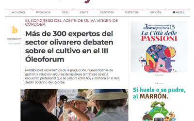 Córdoba Hoy: «Más de 300 expertos del sector olivarero debaten sobre el cultivo en el III Óleoforum»