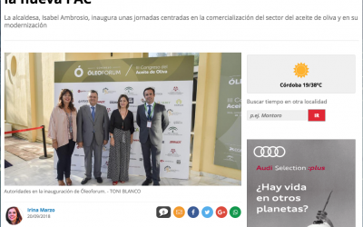 """Diario Córdoba: """"Córdoba acoge Óleoforum en plena negociación de la nueva PAC"""""""