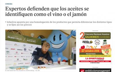 """El Día de Córdoba: """"Expertos defienden que los aceites se identifiquen como el vino o el jamón"""""""